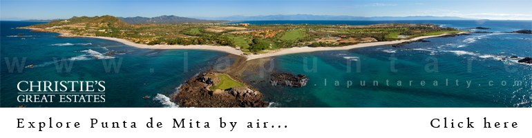 Fly by Punta de Mita for a bird's eye view of the peninsula